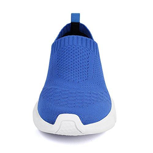 Mxson Frauen Slip On Sneaker Mesh Loafer Lässig Beach Street Sport Wanderschuhe (Neue Größe Version) Blau