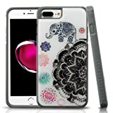 iPhone 6 Plus/6s Plus/7 Plus/8 Plus Case, Mybat Glitter Mandala Dual Layer [Shock Absorbing] Protection Hybrid PC/TPU Rubber Case Cover for Apple iPhone 6 Plus/6s Plus/7 Plus/8 Plus, Multi-Color