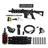 Tippmann U.S. Army Project Salvo w/ E-Grip Tactical HPA Red Dot Paintball Gun Package - Black