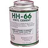 HH-66 PVC Vinyl Cement Glue with Brush 8oz by HH-66 PVC Vinyl Cement