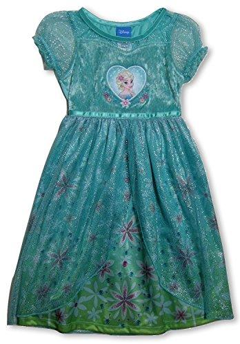 Disney Princess Frozen Nightgown Pajamas (2T, Green Elsa) (Disney Frozen Gowns)