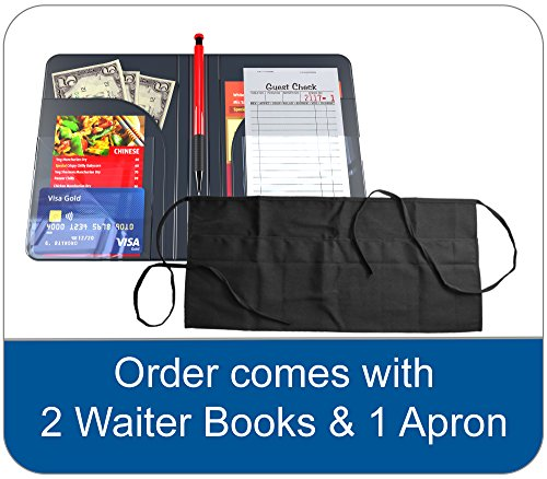 Waiter Book Server Wallet Server Pads Waitress Book Restaurant Waitstaff Organizer, Guest Check Book Holder Money Pocket by Gold Lion Gear (Image #2)'
