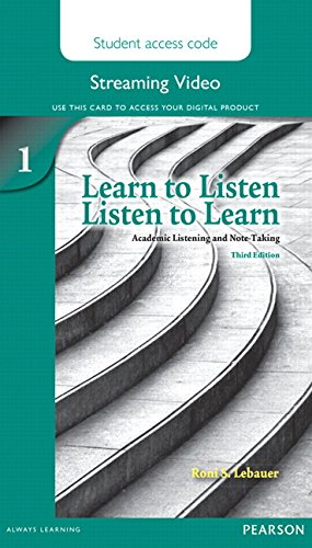 Learn to Listen, Listen to Learn 1 Streaming Video Access Code Card