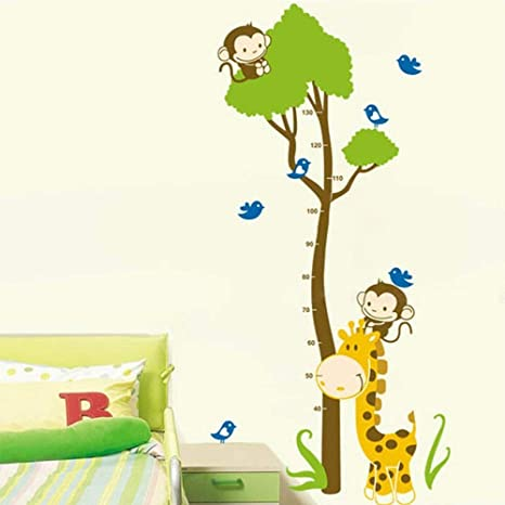 Child Height Growth Chart Measure Wall Sticker Kids Room Nursery Playroom Fe #to