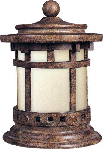 - Maxim Lighting 55032 Santa Barbara LED Outdoor Deck Lantern, Sienna Finish, 10.5 by 12.5-Inch by Lighting Zoo--DROPSHIP