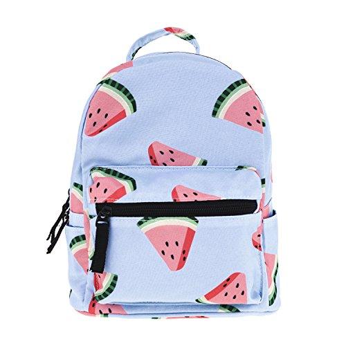 Qiaoxi Cute 10 inch mini pack bag backpack for kids baby grils children and adult (watermelon)