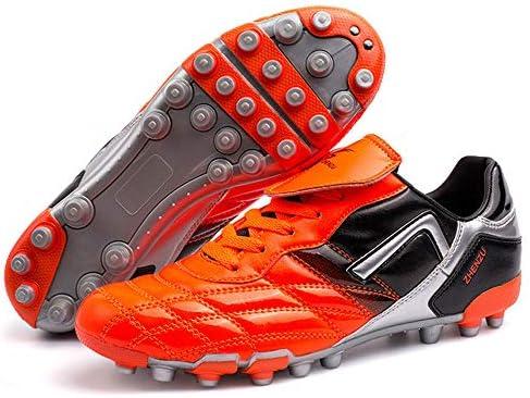 青少年 学生 大人 AG サッカーシューズ レッグシールド付き 大靴舌スケボー競技靴 超軽量 滑り止め 強い耐摩耗性 吸汗性 通気 高級 屋内外ランニングシューズ 男女兼用(22.5CM-27.0CM)