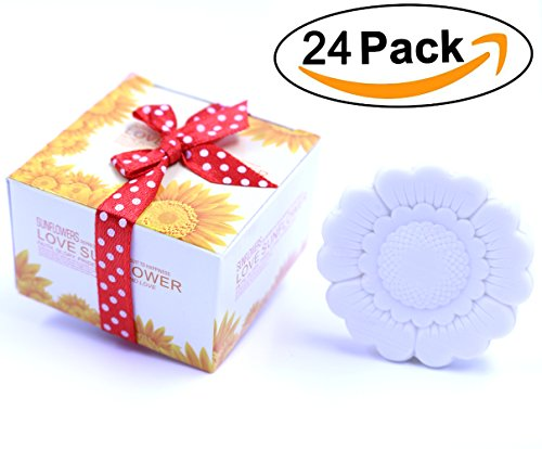 Soap Favors Party Favors - Aistore Cute Mini 24 Pieces Soap for Wedding Soap Favors and Gifts or Baby Shower Soap Favors,Sunflower Style