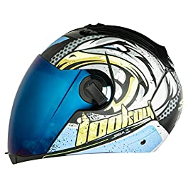 Steelbird SBA-2 Super Wings Helmet in Matt Finish Helmet Fitted with Clear Visor and Extra Chrome Visor (Large 600 MM…