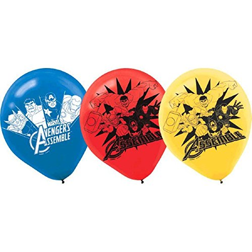 [6-Piece Avengers Balloons, Multicolored] (Incredible Hulk Costume Ideas)