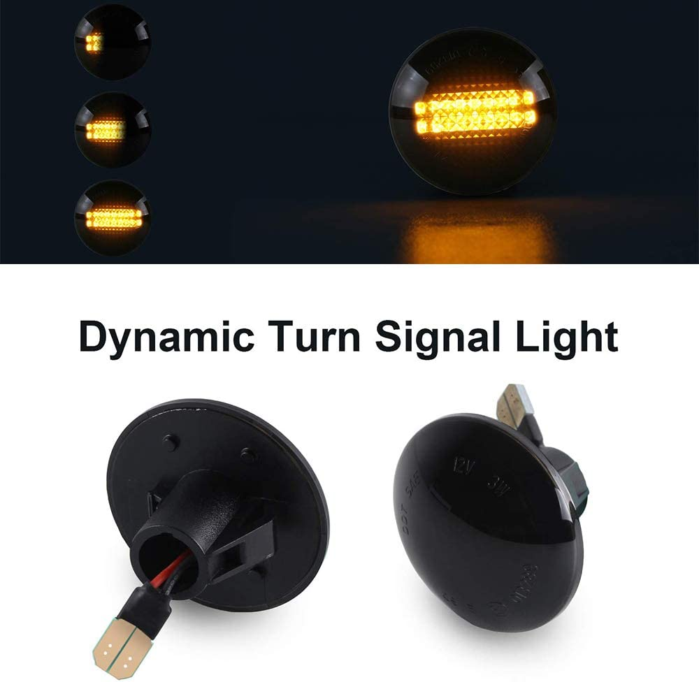 Turn Signal Light Side Indicator Flowing Dynamic Side Marker Repeater Smoke for R-ange R-over L322 2002-2012 White
