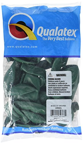 Green Latex Balloons (Pioneer Balloon Company 25 Count Latex Balloon, 11