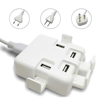 Amazon.com: GLO BUY - Cargador portátil USB de 4 puertos ...