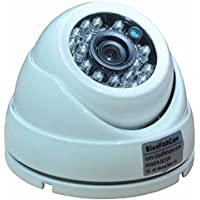 BlueFishCam 4.0MP AHD,TVI,CVI 3-in-1 With OSD 3.6mm Lens 4MP White Alluminum Dome CCTV Camera Waterproof Infrared 24 LED Night Vision Security Camera