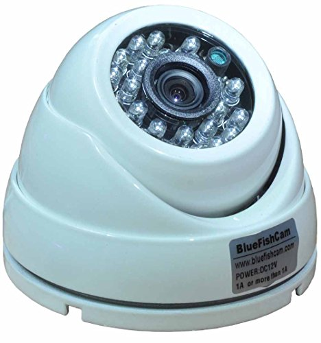 BlueFishCam AHD CCTV Camera Aluminum Dome 1.0MP AHD 720P CMOS Chips with IR-Cut Intrared Wide Angle Security System 2.8mm Lens Waterproof IP66 ()