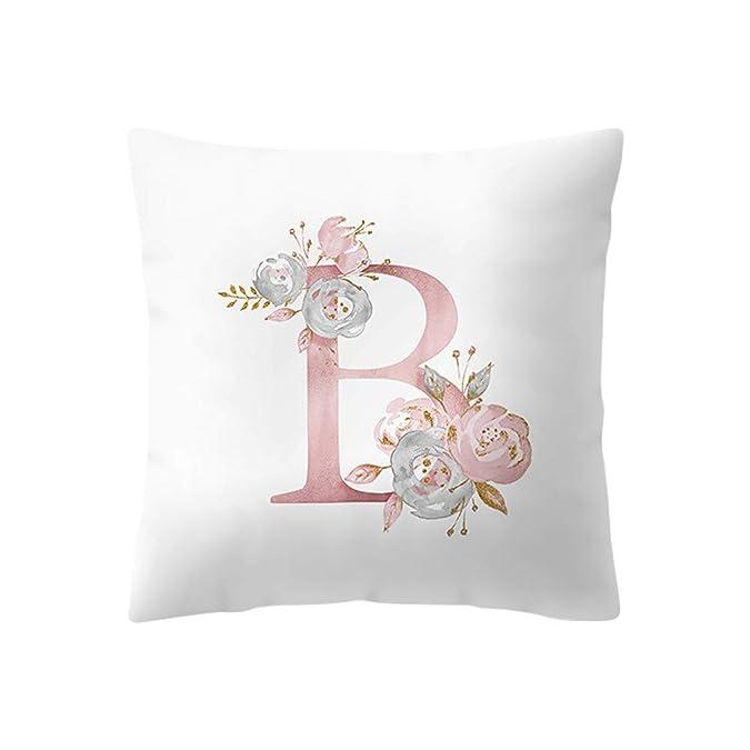 Amazon.com: Funda de almohada Lenxh con diseño de letras ...