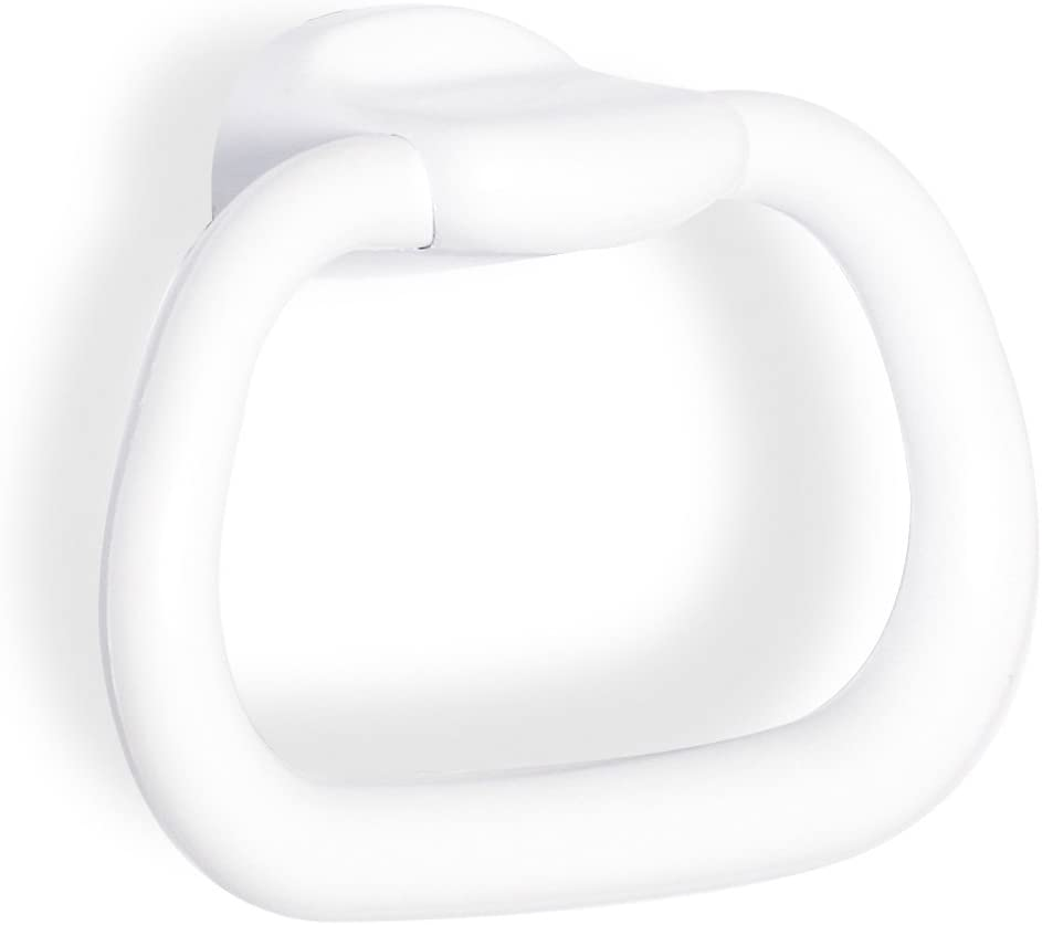 TATAY 6630701 - Olympia Aro toallero pequeño para baño, Plástico Polipropileno, Blanco, 20.50x6.30x14.00 cm