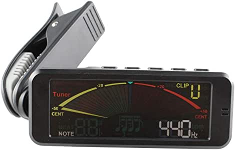 Aleola Guitar Tuner Digital Clip-on Guitar Tuner with Clip Mount for Chromatic Guitar