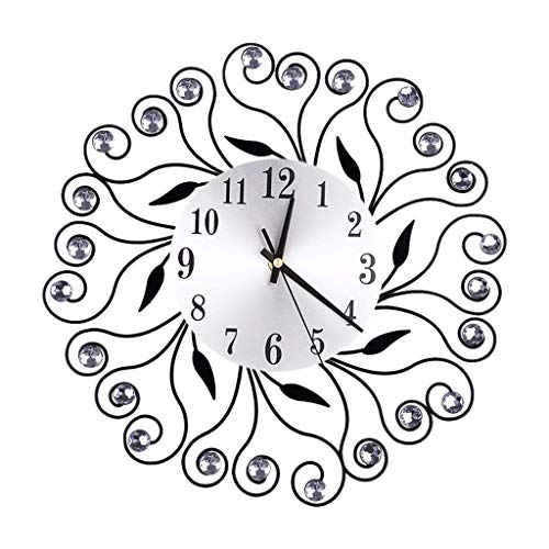 YJYdada Flower Inlaid Diamond Wall Clock (Gold)