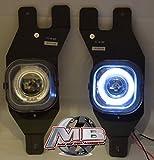 04 f250 fog lights - MBA Premier 01-04 Ford F250 Superduty Halo Projector Fog Lights Lamp Kit - Clear