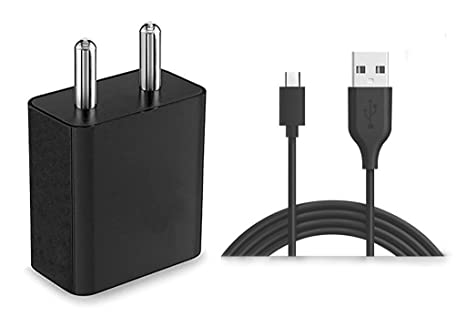 A2Z Shop Mobile Charger With 1 Meter Micro USB Charging Data Cable   Black / White   Chargers