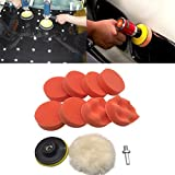 fart bottle opener - Iusun 10Pcs 3 inch Buffing Pad Kit For Polishing Wheel Auto Car With Drill Adapter (Multicolor,10Pcs)