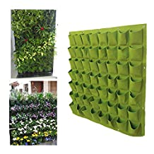 Jack-Store 56 Pocket Garden Vertical Planter,Greening Hanging Wall Planter / Plant Bags