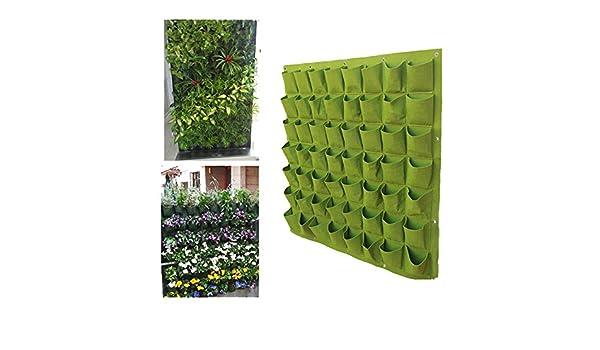 RC-Angel - Jardinera colgante de interior y exterior, para pared, balcón, jardín vertical, 56 Pockets: Amazon.es: Jardín