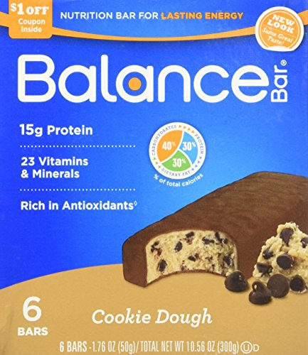Balance Cookie Dough Nutrition Energy Bar, 6 Count