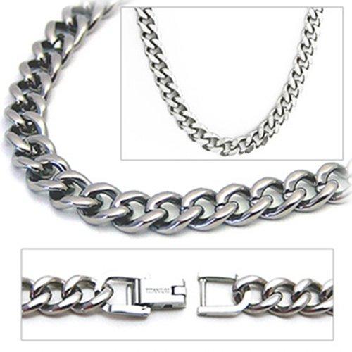 6.9mm Titanium Men's Curb Link Necklace Chain by Accents Kingdom (Image #2)