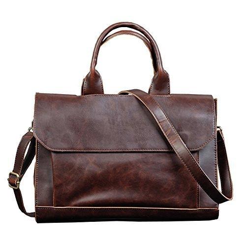 Berchirly Men Bags, PU Faux Leather Office Briefcase Handbag