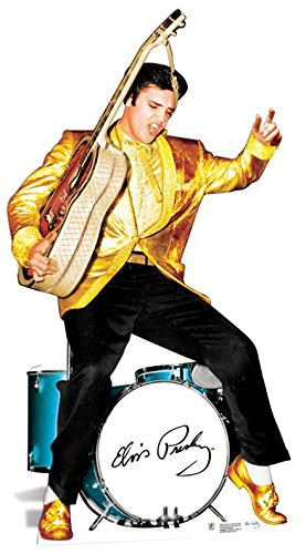 Elvis Presley Cardboard Cutout Life Size Standup Gold Jacket and Drums SC578