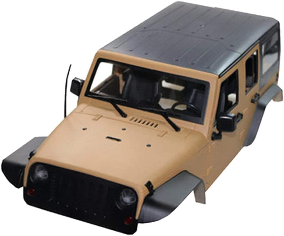 TwoCC Accesorios Rc,Modificado Distancia Entre Ejes Carcasa Dura 12.3In 313mm Carcasa del Coche con Cuerpo De Distancia Entre Ejes Para Wrangler Scx10 1/10 Rc Crawler(Caqui)