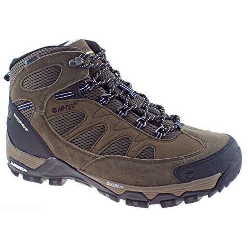 Hi-Tec Mens Riverstone Ultra WP Smokey Brown Waterproof Hiking Walking Boots-UK 7 (EU 41)