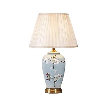 Mmpy Moderna lámpara de mesa chino, pantalla hecha de tela ...