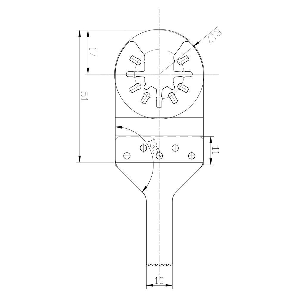 Sumec Ryobi Multifunktionswerkzeug Set Bi-Metall HSS für Rockwell Secco Skil