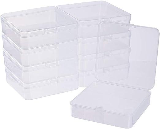 BENECREAT 10 Pack Caja de Almacenamiento de Plástico Transparente ...