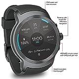 LG Watch SPORT Wi-Fi + Unlocked GSM Smartwatch w/ 1.38-inch P-OLED Display - Titan / Silver