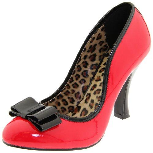2 Pleaser Patent geschlossene UK Pumps 01 Rot 2 rotes UK rot Womens Smitten 7qfrwqFY