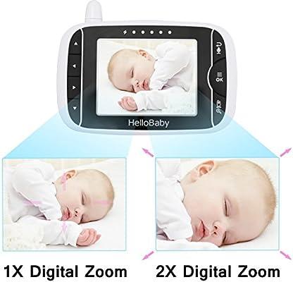 Nachtsicht Temperatur/überwachung /& 2 Way Talkback System HB32 HelloBaby Wireless Video Baby Monitor mit Digitalkamera