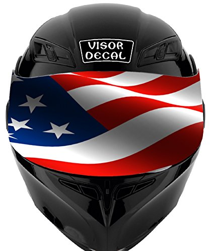 V19 American Flag VISOR TINT DECAL Graphic Sticker Helmet Fits: Icon Shoei Bell HJC Oneal Scorpion AGV ()