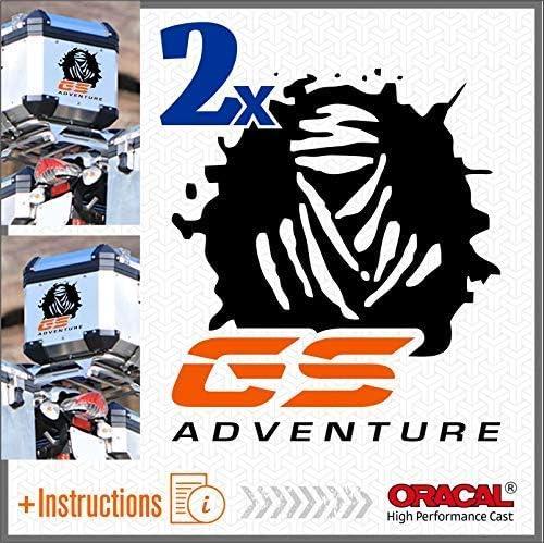 Black//Red 2pcs Dakar GS Adventure Autocollant R 1200 1150 F 800 650 F700 GS A R1200GS R1200 Motorrad Touratech Motorcycle Givi Trekker Outback Aluminium Panniers Sacs lat/éraux Top Case