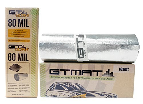 GTMat 10 sqft Ultra 80mil Roll (18'' x 6'8'') Car Truck Panel Deck Door Automotive Audio Sound Deadener Deadening Noise Dampener by GTMat