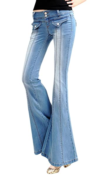 379bb0cd57238b AvaCostume Womens Vintage Flare Bell Bottom Jeans: Amazon.ca ...
