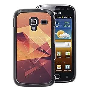 A-type Arte & diseño plástico duro Fundas Cover Cubre Hard Case Cover para Samsung Galaxy Ace 2 (Diamond Vignette Yellow Pattern Polygon)