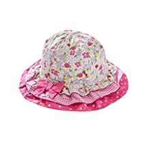Genda 2Archer Cute Floral Cotton Sun Protection Hat for Infant Baby Toddler Girls