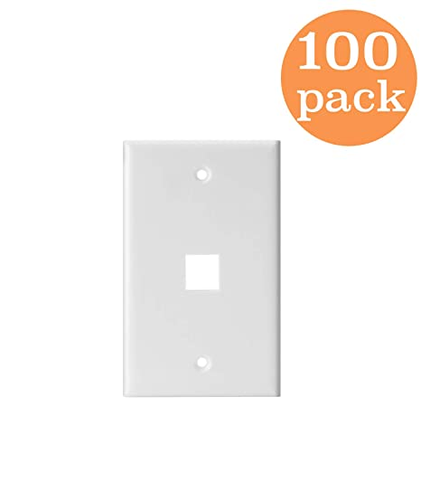 Device Mount Thermoplastic Nylon Kenuco White Double Gang Decora//GFCI Wall Plate Standard Size Pack of 10