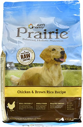 NATURE'S VARIETY 699043 Prairie Kibble Chicken/Brown Rice for 4/4.5-Pound