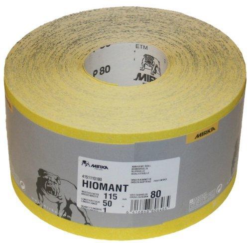 Mirka Hiomant Abrasive Sandpaper, 50m Roll, P80 Grit