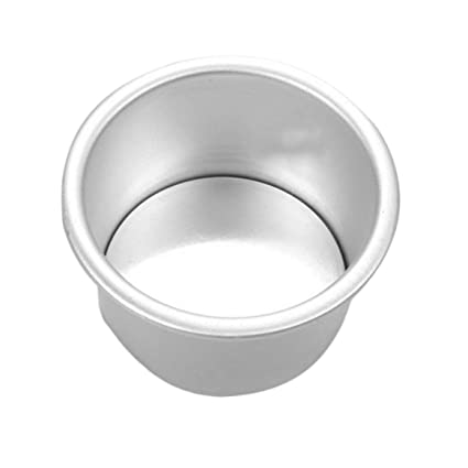 Delicacydex Aleación de Aluminio de 6 Pulgadas Forma Redonda para Hornear Pastel Molde no tóxico Molde